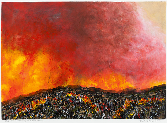 The overwhelming red fire front, 2014, Private collection