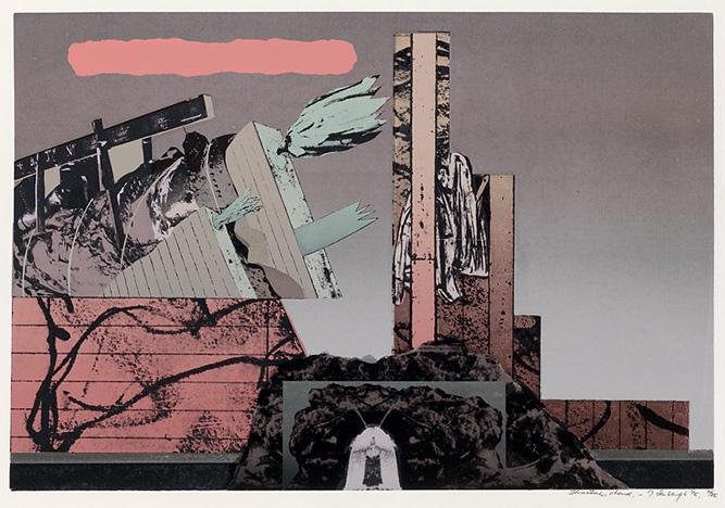 Structure, cloud, 1975, Screenprint