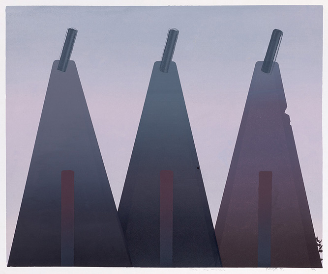 Three (one doubtful), 1969, Screenprint