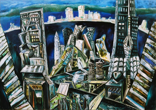 Blue Chicago, 1993, Collection of the artist, contact Niagara Galleries