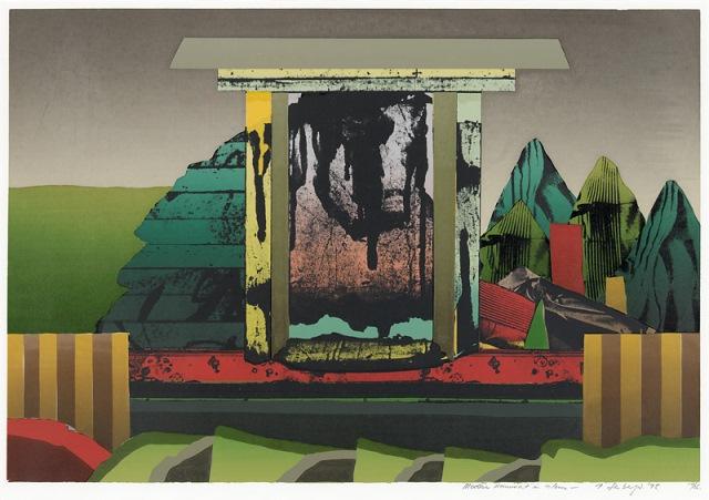 Modern monument in colour, 1975, screenprint