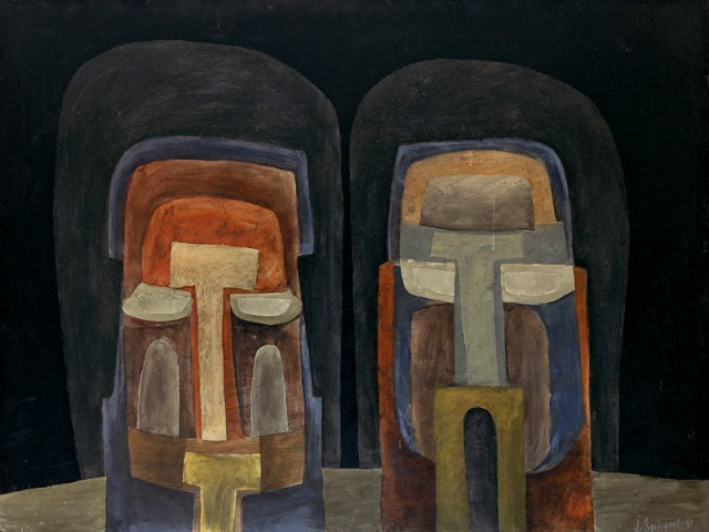Two Heads, 1961, Private collection