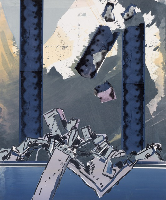 Collapsing structure, 1969, screenprint
