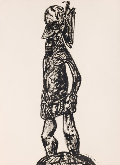 New Guinea warrior, 1993, Collection of the artist, contact Niagara Galleries