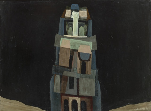 The tower, 1961, Collection of the artist, contact Niagara Galleries