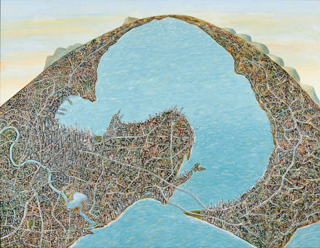 Geelong capriccio (if Geelong were settled instead of Melbourne), 2010, Deakin University Art Collection