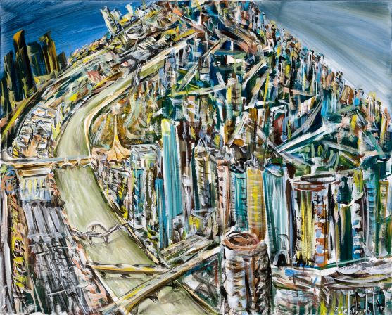Six views of Melbourne IV, 2018, Collection of the artist, contact Niagara Galleries