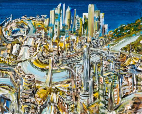 Six views of Melbourne III, 2018, Collection of the artist, contact Niagara Galleries
