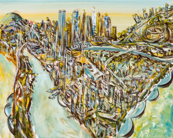 Six views of Melbourne VI, 2018, Collection of the artist, contact Niagara Galleries