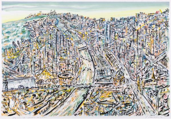 Melbourne - towards the west, 2017, Collection of the artist, contact Niagara Galleries